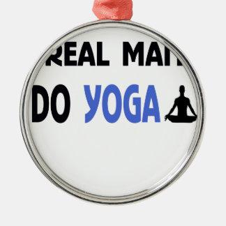YOGA-MANN-Fitness Silbernes Ornament