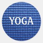 Yoga-Matten-Aufkleber Runder Aufkleber
