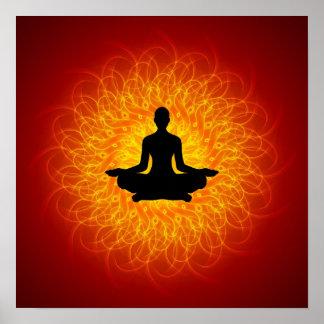 Yoga - Meditation auf Mandala Poster
