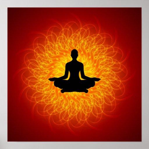 Yoga - Meditation auf Mandala Plakatdrucke