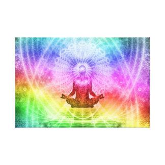 Yoga-Meditations-buddhistisches Nirwana Leinwanddruck