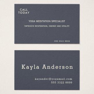 Yoga-Meditations-minimales Indigo-Elfenbein Visitenkarte