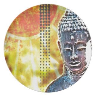 Yoga-Meditations-Zeitalter-geistiger Zen Buddha Melaminteller