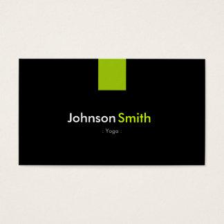 Yoga-modernes tadelloses Grün Visitenkarten