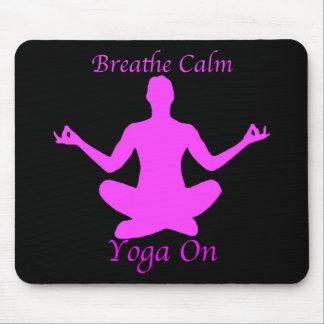 Yoga Mousepad atmet Ruhe