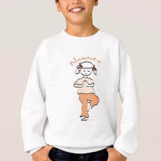 Yoga Namaste junges Mädchen Sweatshirt
