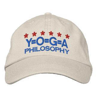YOGA PHILOSOPHY BESTICKTE KAPPE