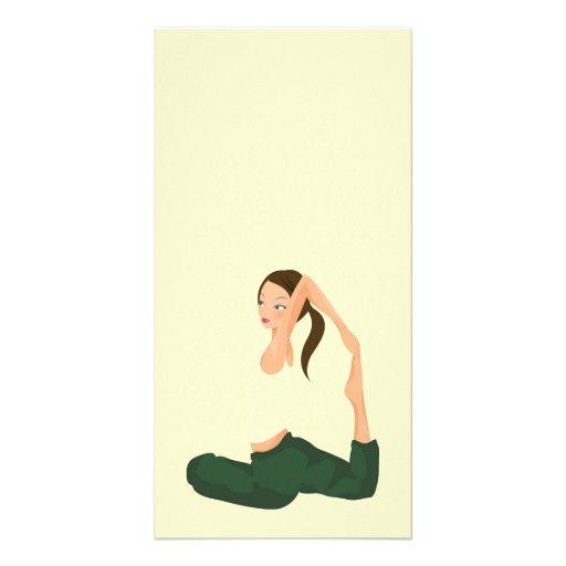 Yoga Pilates L Gesundheit u. Fitness Photokartenvorlage