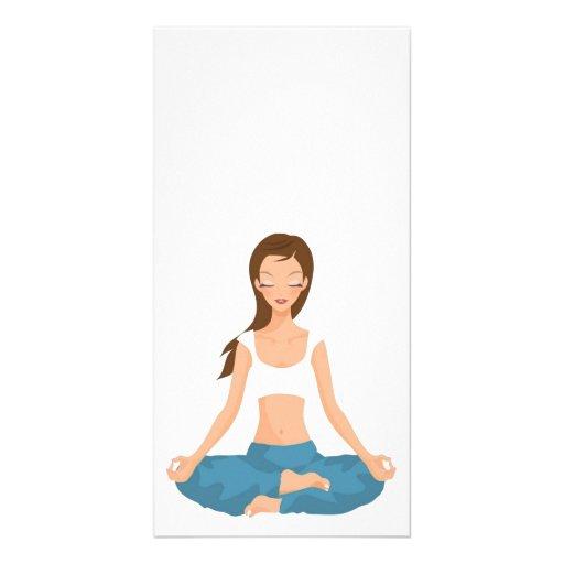 Yoga Pilates Meditation L Gesundheit u. Fitness Fotokartenvorlagen