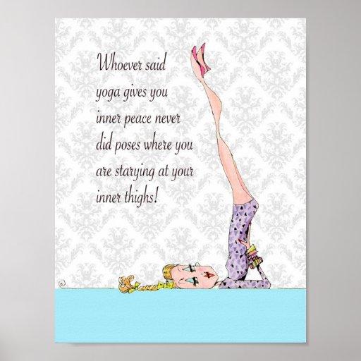 Yoga-Pose für inneren Frieden Plakate