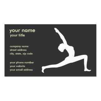 Yoga-Pose-Schwarz-Silhouette-Geschäfts-Karten Visitenkarten