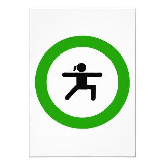 Yoga-Pose-Zeichen-Gruß-Karten Karte