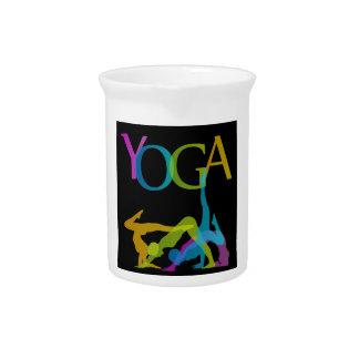 Yoga-Posen Getränke Pitcher