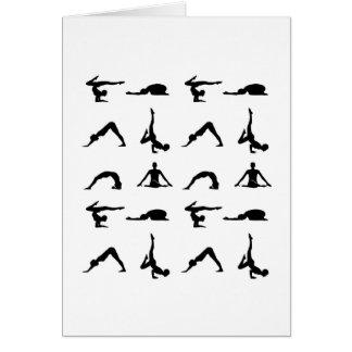 Yoga-Posen Grußkarte