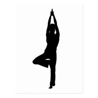 Yoga Postkarte