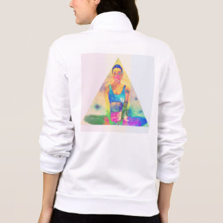 Yoga-Pyramide-Strickjacke