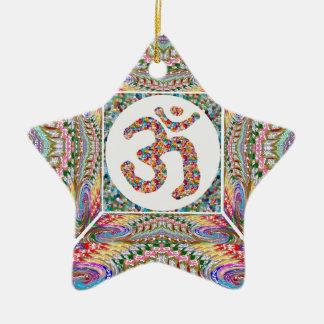 YOGA Raum und OM-Beschwörungsformel an hinterem n Keramik Ornament