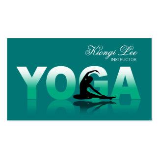 Yoga-Reflexionen, Yoga-Lehrer, Yoga-Klasse Visitenkarten Vorlage