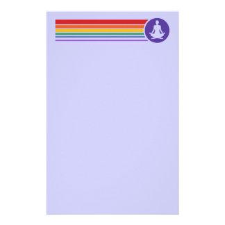 Yoga-Regenbogen Bedrucktes Papier