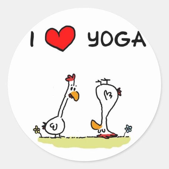 Yoga Runder Aufkleber