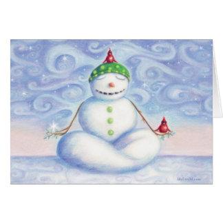 Yoga-Schneemann-Grußkarte durch idyl-wyld Entwurf Karte