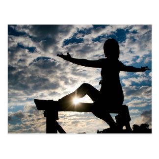 Yoga-Silhouette Postkarte