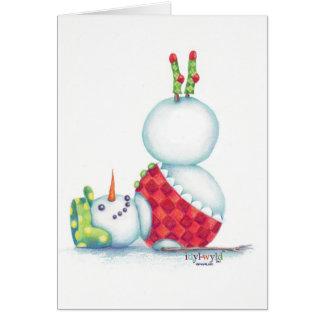 Yoga Snowman-Weihnachtskarten-Skandinavier-Flair Karte