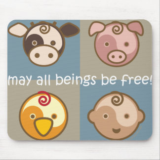 Yoga spricht Baby: Mai sind alle Wesen frei! Mauspads