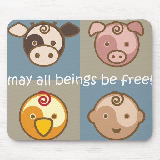 Yoga spricht Baby: Mai sind alle Wesen frei! Mousepads