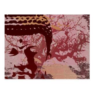 Yoga spricht: Buddha-Baum-Grafik Postkarten