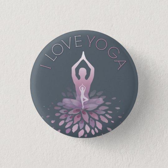 yoga statement runder button 3,2 cm