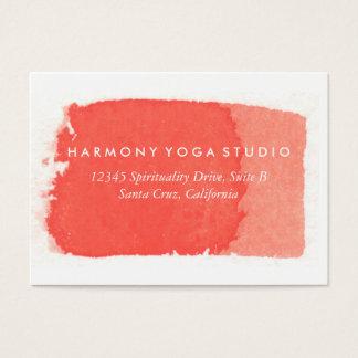 Yoga-Studio-Visitenkarte-korallenroter Visitenkarte