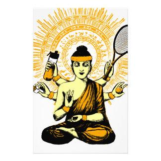 yoga Tennis Briefpapier