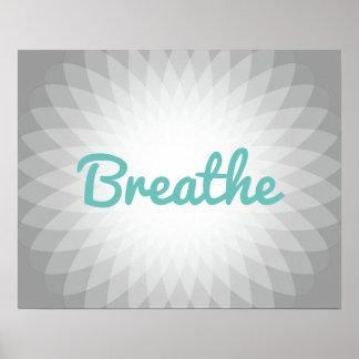 "Yoga u. Meditation ""atmen"" Geist Poster"