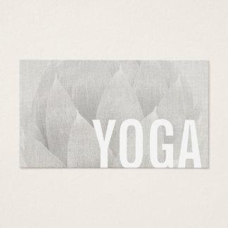 Yoga-u. Meditations-Lehrer elegantes Lotus mit Visitenkarte