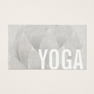 Yoga-u. Meditations-Lehrer elegantes Lotus mit Visitenkarten