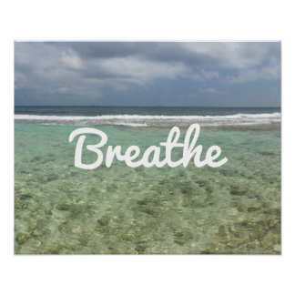 "Yoga-u. Meditations-Strand ""atmen"" Geist Poster"