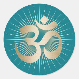 Yoga-u. Runder Aufkleber