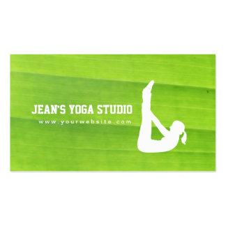 Yoga-u. Wellness-Natur-Grün-Visitenkarte