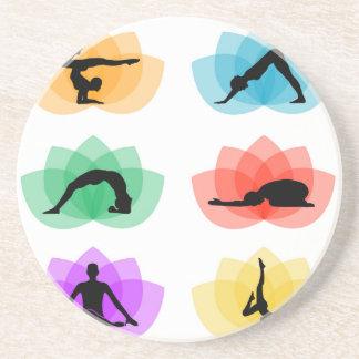 Yoga- und Meditationssymbole Untersetzer