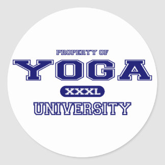 Yoga-Universität Runder Aufkleber