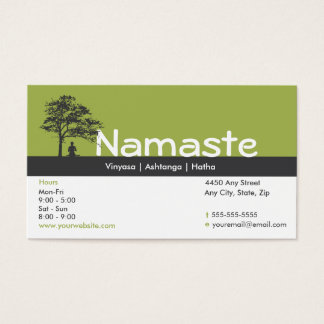Yoga-Visitenkarte-Klassen-Durchlauf Visitenkarte