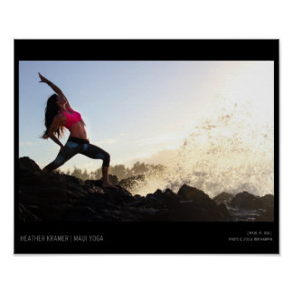 Yoga-Welle Poster