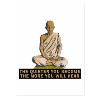 Yoga - werden Sie… das ruhiger Postkarte