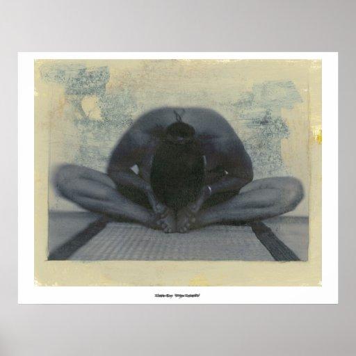 Yoga-Wesentliches Plakatdruck