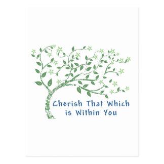Yoga-Zitat: Schätzen Sie das, das innerhalb Sie Postkarte