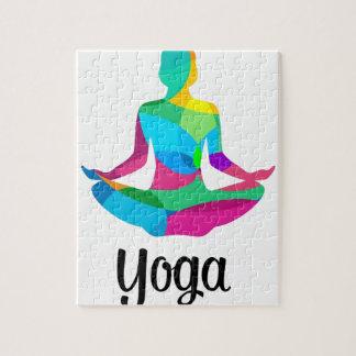 Yogaeinstellung und -Fitness Puzzle