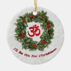 """Yogafeiertagsverzierung """"ich bin OM für Keramik Ornament"""