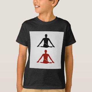 Yogahaltung Kuh-Gesicht gomukhasana T-Shirt