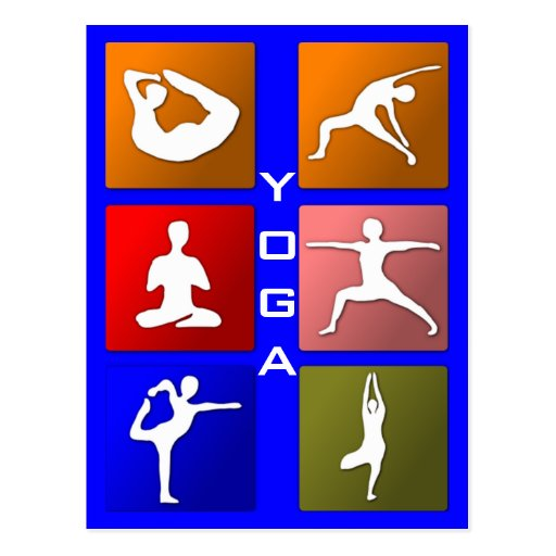 Yogapostkarte Postkarten